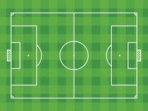 Vista superior del campo de fútbol o del campo de fútbol Imagen de archivo