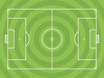 Vista superior del campo de fútbol o del campo de fútbol Imagen de archivo libre de regalías