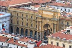 Vista superior del centro histórico de Florencia, Italia Fotografía de archivo libre de regalías