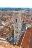 Vista superior del centro histórico de Florencia, Italia Imagen de archivo libre de regalías