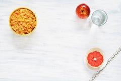 Vista superior del concepto sano del desayuno imagen de archivo