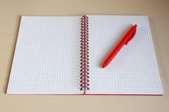 Vista superior del cuaderno abierto Fotografía de archivo