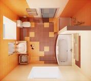 Vista superior del cuarto de baño Imágenes de archivo libres de regalías