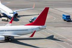 Vista superior del delantal del aeropuerto Foto de archivo libre de regalías