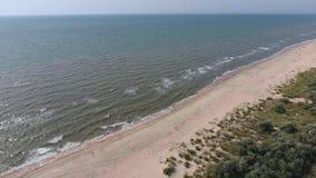 Vista superior del mar de Azov almacen de video