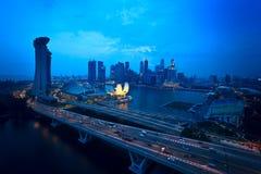 Vista superior del paisaje del aviador de Singapur Foto de archivo libre de regalías