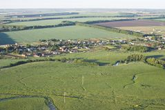 Vista superior del pueblo Mushkovatovo Imagen de archivo