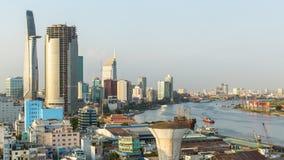 Vista superior del río de Saigon Imagen de archivo