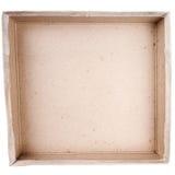 Vista superior del rectángulo del cartón Imagen de archivo libre de regalías