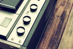 Vista superior del registrador de carrete del vintage Foto de archivo libre de regalías