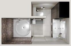 Vista superior do banheiro Imagem de Stock Royalty Free
