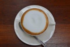 Vista superior do café do latte Fotos de Stock Royalty Free