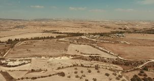 Vista superior do deserto vídeos de arquivo