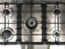 Vista superior do fogão moderno do gás imagens de stock royalty free