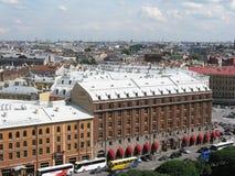 Vista superior do hotel Astoria, St Petersburg fotografia de stock