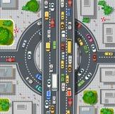 Vista superior do mapa da cidade ilustração stock