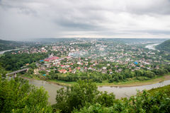 Vista superior do rio Dniester Fotografia de Stock