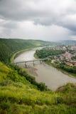 Vista superior do rio Dniester Fotos de Stock