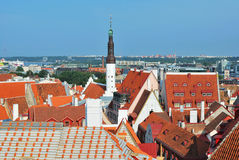 Vista superior do Tallinn velho Imagens de Stock Royalty Free