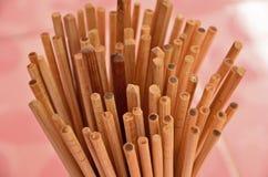 Vista superior dos hashis de bambu Imagem de Stock