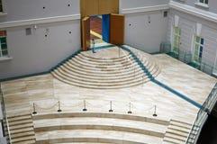 A vista superior em uma escada de mármore bonita Fotografia de Stock