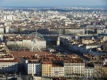 Vista superior Lyon Imagem de Stock