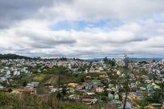 Vista superior na cidade Vietnam do dalat Foto de Stock