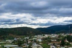 Vista superior na cidade Vietnam do dalat Fotos de Stock