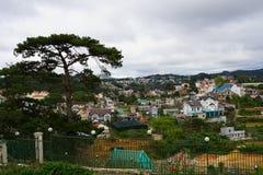 Vista superior na cidade Vietnam do dalat Imagens de Stock Royalty Free