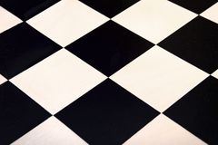 Vista superior na textura quadriculado preto e branco fotos de stock royalty free