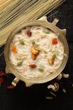 Vista superior - payasam ou kheer delicioso da aletria Fotografia de Stock Royalty Free