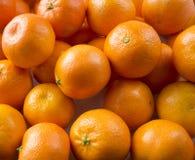 Vista superior Tangerines frescos Os mandarino maduros e saborosos clementina imagem de stock royalty free