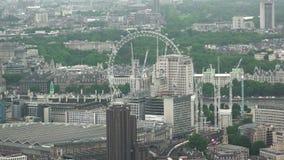 Vista superiore aerea dell'occhio di Londra archivi video