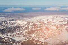 Vista superiore da aria, paesaggio della montagna Fotografia Stock Libera da Diritti
