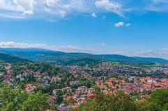 Vista superiore dal castello, Germania immagine stock
