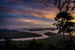 Vista superiore dalla sommità a tempo di tramonto Immagine Stock Libera da Diritti