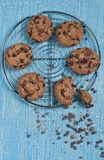 Vista superiore dei biscotti Fotografie Stock Libere da Diritti