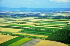 Vista superiore dei campi variopinti Fotografia Stock Libera da Diritti