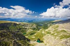 Vista superiore dei laghi delle montagne. Fotografia Stock Libera da Diritti