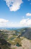 Vista superiore dei laghi Karakol Immagine Stock