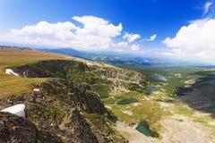 Vista superiore dei laghi Karakol in Altai Fotografia Stock Libera da Diritti