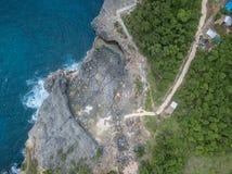 Vista superiore del Billabong del bello angelo Isola di Nusa Penida, Indonesia fotografie stock