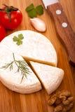 Vista superiore del Brie Fotografie Stock