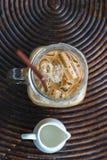 Vista superiore del caffè di ghiaccio Immagini Stock