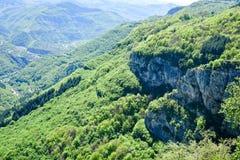 Vista superiore del canyon del montain di estate Immagini Stock
