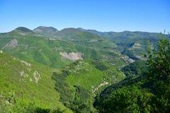 Vista superiore del canyon del montain di estate Fotografie Stock