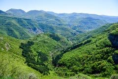 Vista superiore del canyon del montain di estate Immagine Stock Libera da Diritti