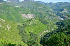 Vista superiore del canyon del montain di estate Fotografia Stock Libera da Diritti