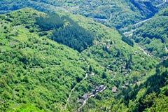 Vista superiore del canyon del montain di estate Fotografia Stock