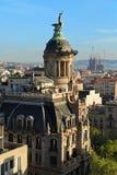 Vista superiore del centro di Barcellona spain Fotografia Stock Libera da Diritti